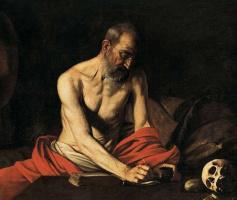 Michelangelo Merisi de Caravaggio. Saint Jerome Writing