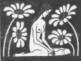 Мауриц Корнелис Эшер. Обнаженная 1