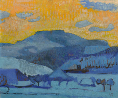 Cuno Amiè. Winter landscape. Oswald