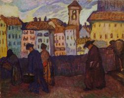 Ольга Людвиговна Делла-Вос-Кардовская. «Вечерний звон. Флоренция» 1912