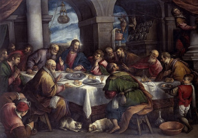 Francesco Bassano. The last supper