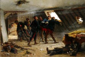 Альфонс Мари де Невиль. Эпизод франко-прусской войны