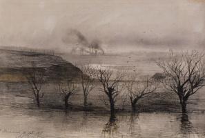 Alexey The Kondratyevich Savrasov. Landscape. The Village Of Volyn