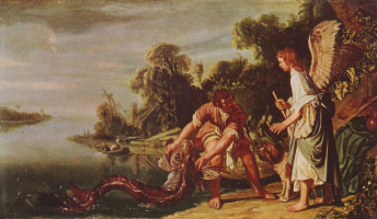 Питер Питерс Ластман. Ангел и Товия с рыбой