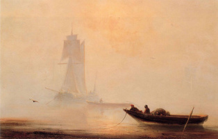 Ivan Aivazovsky. Fishing boats in the harbour