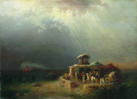 Лев Феликсович Лагорио. Черкесские воины в степи