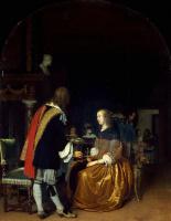 Франц ван Мирис Старший. Угощение устрицами