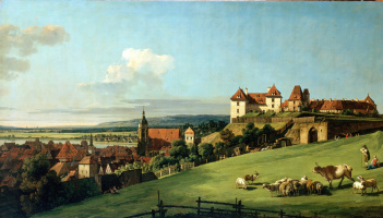Bernardo Bellotto. The view of Pirna from the Sonnenstein castle