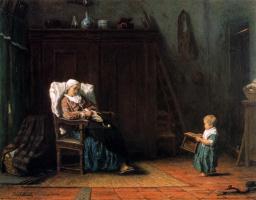 Йозеф Исраэлс. Мамина помощь
