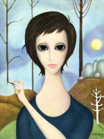 Маргарет Кин. Девушка и закат