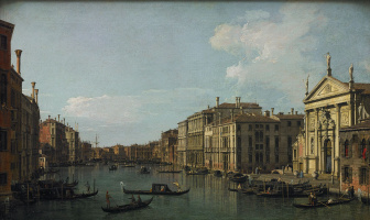 Giovanni Antonio Canal (Canaletto). The Grand canal in Venice, view from the South-East, from San STAE to the side of the new plants in Rialto