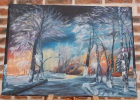 Julia Yuryevna Boyarko. Winter evening in the park
