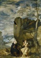Диего Веласкес. Святой Антоний посещает святого Павла