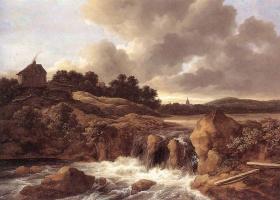 Якоб Исаакс ван Рейсдал. Пейзаж с водопадом