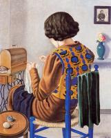Анхель Планеллс. Девушка, сидящая на стуле