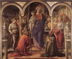 Фра Филиппо Липпи. Мадонна с младенцем и Санкт-Августин