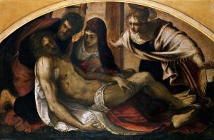 Jacopo (Robusti) Tintoretto. Lamentation of Christ (Pieta)