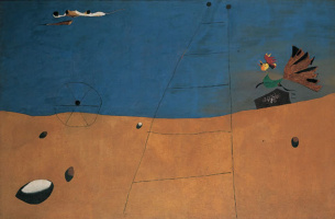Joan Miro. Landscape with a rooster