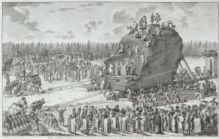 Якоб ван де Шлей. Вид Гром-камня во время перевозки