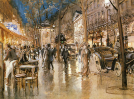 Жорж Штейн. Вечер на парижском бульваре