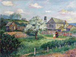 David Davidovich Burliuk. Walk in the village