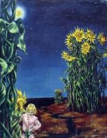 Доротея Таннинг. Пейзаж с подсолнухами