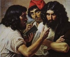 Михаил Иванович Скотти. «Три неаполитанца» Между 1838 и 1844  59х79