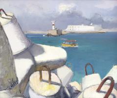 Игорь Шипилин. Севастополь. Вид с мола на форт Константин