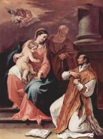 Себастьяно Риччи. Святое семейство и св. Игнатий Лойола