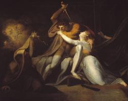 Иоганн Генрих Фюссли. Персиваль освобождает Белисану от волшебных пут Урма