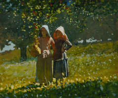 Winslow Homer. Apple picking