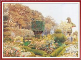 Джордж Сэмюэл Элгуд. Цветы в саду