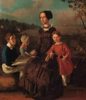 Иван Фомич (Трофимович) Хруцкий. Семейный портрет