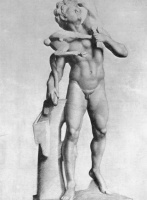 Жорж Сёра. Античная статуя: Сатир с козой