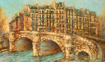 Vadim Viktorovich Maslennikov. Paris. The Bridge Pont Neuf,