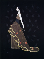 Роман Петрович Тыртов (Эрте). Ночные розы (Платье с розами II)