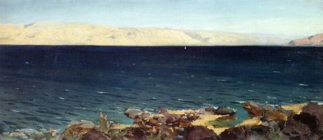 Vasily Dmitrievich Polenov. The sea of Galilee (of Gennesaret) lake