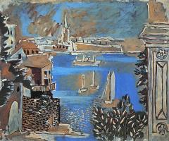 Pablo Picasso. Landscape in Dinard (Brittany)