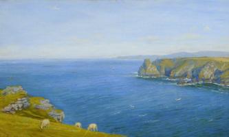 Arthur Hughes. Gulf Coast on the North Cornwall Coast