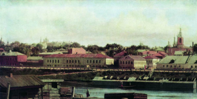 Nikolai Vasilyevich Nevrev. Potters View from the Moscow River to the Pottery Embankment and Pottery Lanes. 1889