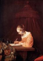 Герард Терборх. Женщина пишет письмо