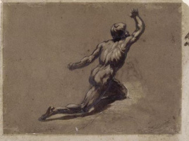 """Théodore Géricault. Sketch nude figure for the painting """"Raft with Medusa"""""""