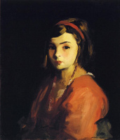Роберт Генри. Маленькая девочка в красном