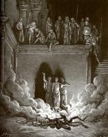 Поль Гюстав Доре. Иллюстрация к Библии: три отрока в раскаленной печи