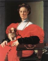 Аньоло Бронзино. Портрет дамы с щенком