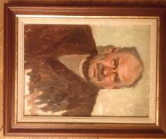 Mikhail Filippovich Volodin. Portrait of artist's father. K/m (baguette)