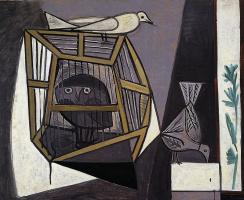 Пабло Пикассо. Клетка с совой