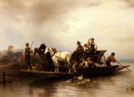 Вильгельм Александр Мейерхейм. Прибытие парома