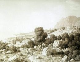 Карл фон Кюгельген. Вид долины близ деревни Мшатка