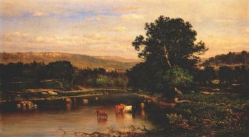 George Innes. Scene on the Hudson